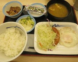 ワンパターンにもほどがあるが松屋のソーセージエッグ朝食はウマシ