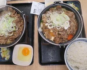 吉野家の牛すき鍋膳,ついに肉2倍!