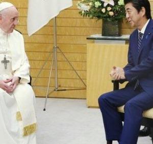 ローマ教皇が招いた人たちと安倍首相が桜を見る会に招いた人たちを比べてみるがよい