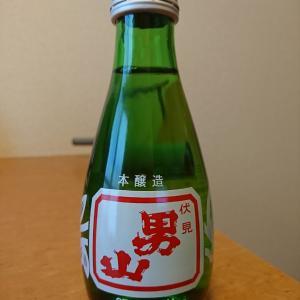 気仙沼地酒・伏見男山と肴は気仙沼産のメカジキのカマ煮付け