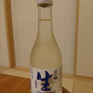 沢の鶴の本醸造生酒と肴は本まぐろの中とろ