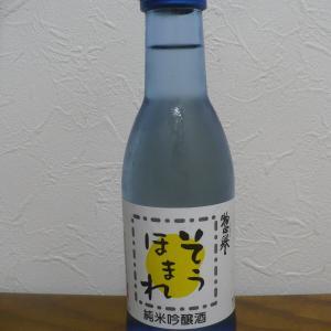 栃木地酒・惣誉と肴はトビウオの刺身