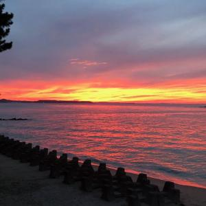 赤い夕焼け空