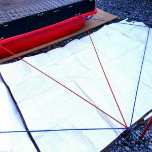 強風設営に備えてテント設営ガイドを作成