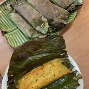おうちごはん - マレーシア料理「オタオタ」を友達が作って持ってきてくれた