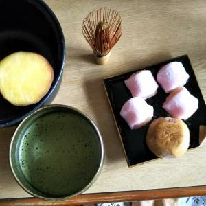 🐵 ふかしイモ&抹茶 和菓子