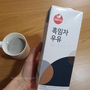 ソウル牛乳の黒ゴマ牛乳。