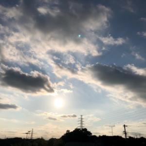 久しぶりの夕陽です