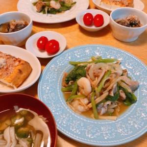 [今日の一品]豚肉と海老の野菜炒め