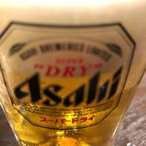 金曜日の夜なので、ビール