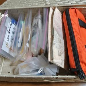 ジッパー袋で小さな物を整理
