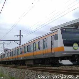 E233系「東京アドベンチャーラインで遊ぼう」ヘッドマーク付 福生~羽村① [シルクロードの日]