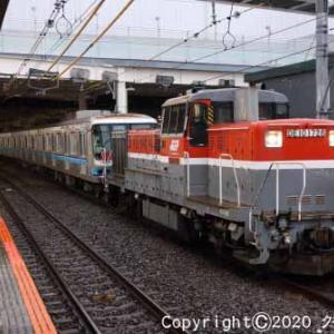 DE10+東京地下鉄07系 甲種輸送 立川  [今日はエイプリルフール]