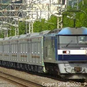 EF210-157+東武70090系71795F甲種輸送 平塚②  [今日はUFOの日]