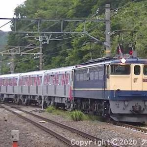 EF65 2088+都営12-600形甲種輸送 函南⑦  [今日は虹の日]