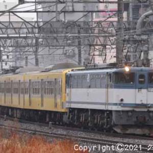 甲種輸送 EF65 2050+西武鉄道 新101系 立川③ [今日は七夕の日]