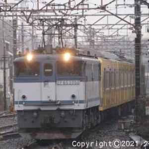 甲種輸送 EF65 2050+西武鉄道 新101系 豊田② [今日は真珠記念日]
