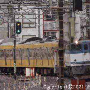 甲種輸送 EF65 2050+西武鉄道 新101系 立川③ [今日は海の日2021]