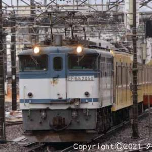甲種輸送 EF65 2050+西武鉄道 新101系 立川④ [今日はスポーツの日]