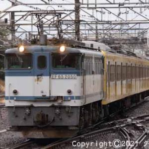 甲種輸送 EF65 2050+西武鉄道 新101系 立川⑦ [今日はスイカの日]