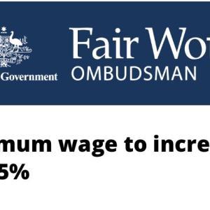 オーストラリア・最低賃金2.5%引き上げ