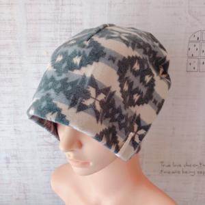 秋冬♪おしゃれで可愛いハンドメイド医療用ケア帽子 コットンネル《ネイティブ柄》