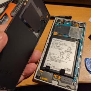 Xperia Z5 バッテリー交換