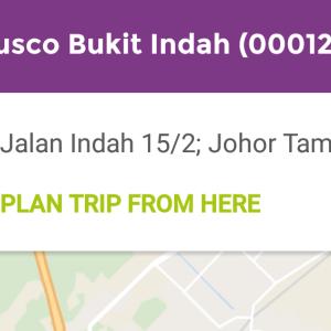 Sunway Iskandar を路線バスが通るように
