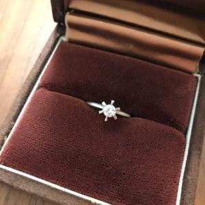 ダイヤモンドリングがようやく完成しました