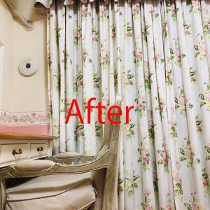 <最終回> ローラアシュレイのオーダーカーテンを自宅で洗ってみた