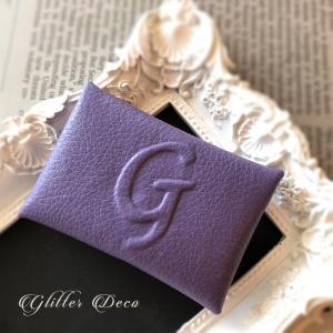 H.Gファンにはたまらない、パープルのカードケース