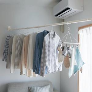部屋干し対策❗️賃貸でも取付けられる室内物干しセットポチ