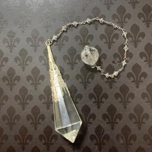 新作 水晶と双龍のペンデュラム