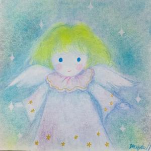 新作 天の彩アート 「安らぎの天使ちゃん」