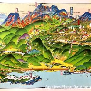 昭和2年の吉田初三郎「日本八景雲仙岳」にみる桜景と紅葉の混在景