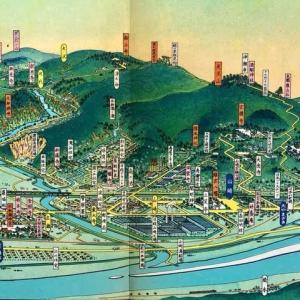 大河ドラマのクライマックス舞台を描いた初三郎の鳥瞰図