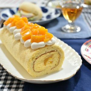 濃厚マンゴーロールケーキとパンレッスン♡