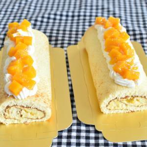 今月最後のマンゴーロールケーキ♪