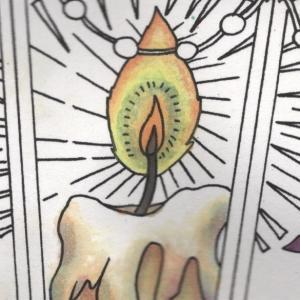 『第14回大人の塗り絵コンテスト』進捗10