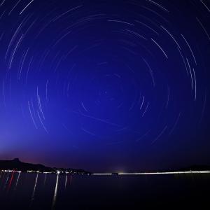 志度湾から北極星を撮りました。