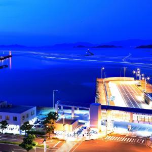 サンポート(1) 船と車の光跡