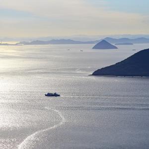 屋島からの夕景(2)    #光る海