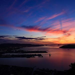 屋島からの夕景(4)  -海が焼ける-
