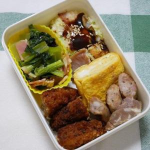 メンチカツとお好み焼きのお弁当&麻婆豆腐のお夕飯