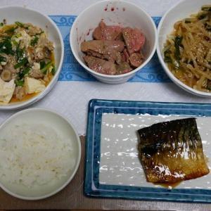 サバの照り焼き・麻婆豆腐のお夕飯