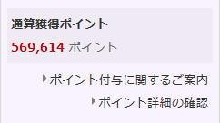 楽天ポイント56万円