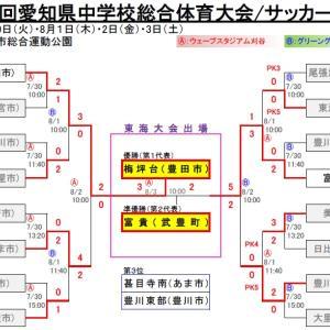 第73回 愛知県中学校総合体育大会・サッカー大会【決勝】
