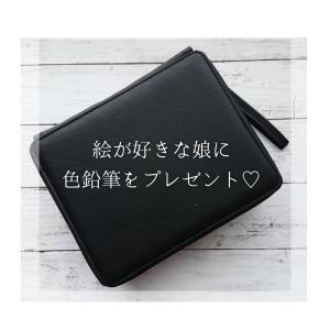 """◆娘へのプレゼント品""""色鉛筆と色鉛筆ケース""""使用レポ"""