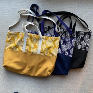◆《次男の入学準備完了!》ショルダー付き手提げバッグ製作。