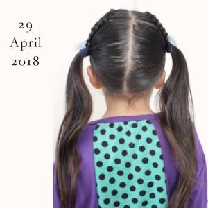 ◆娘のヘアアレンジ記録(25)